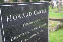 The grave of Howard Carter