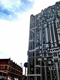 Creative hoarding, Balham High Street 2015 c Tod Hanson.