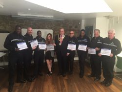 Police NVQ with Mayor 15 June 2016