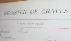 Register of graves