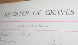 Register of graves