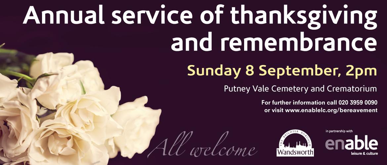 Memorial service 2019