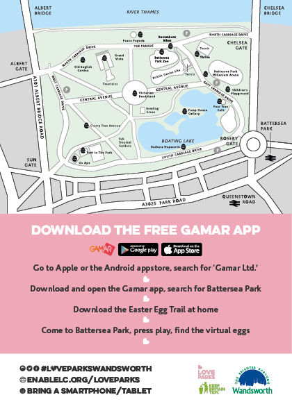 Augmented Reality Easter Egg Trail - Wandsworth Parks and Events