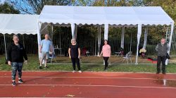 a physical activity session outside